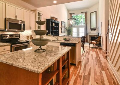 kitchen in the charleston townhome