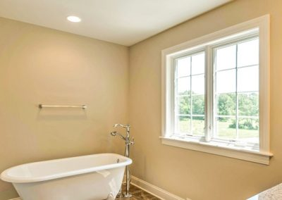 custom claw foot tub and window