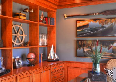 custom shelving and cabinets