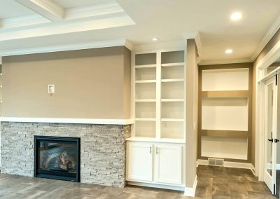 custom shelving and nooks