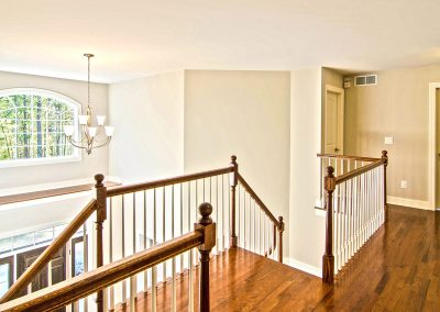 upper balcony overlooking foyer