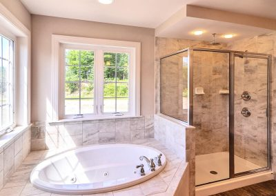 bath tub and shower surround