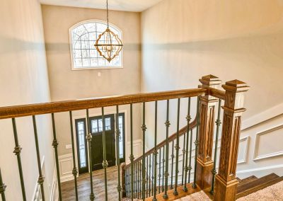 upper railings and foyer