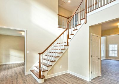 foyer stairs and upper railing