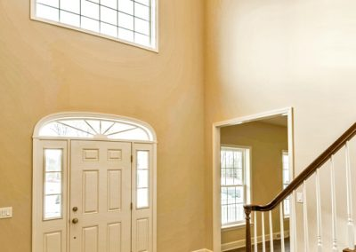 entry foyer with transom window